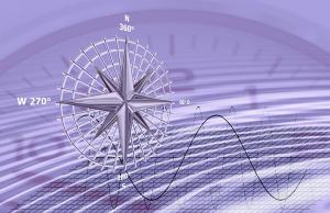 Image boussole avec une horloge en fond évoquant le temps