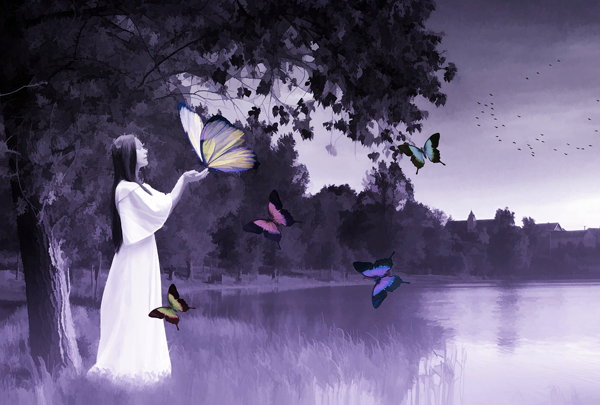 Rêve femme papillons